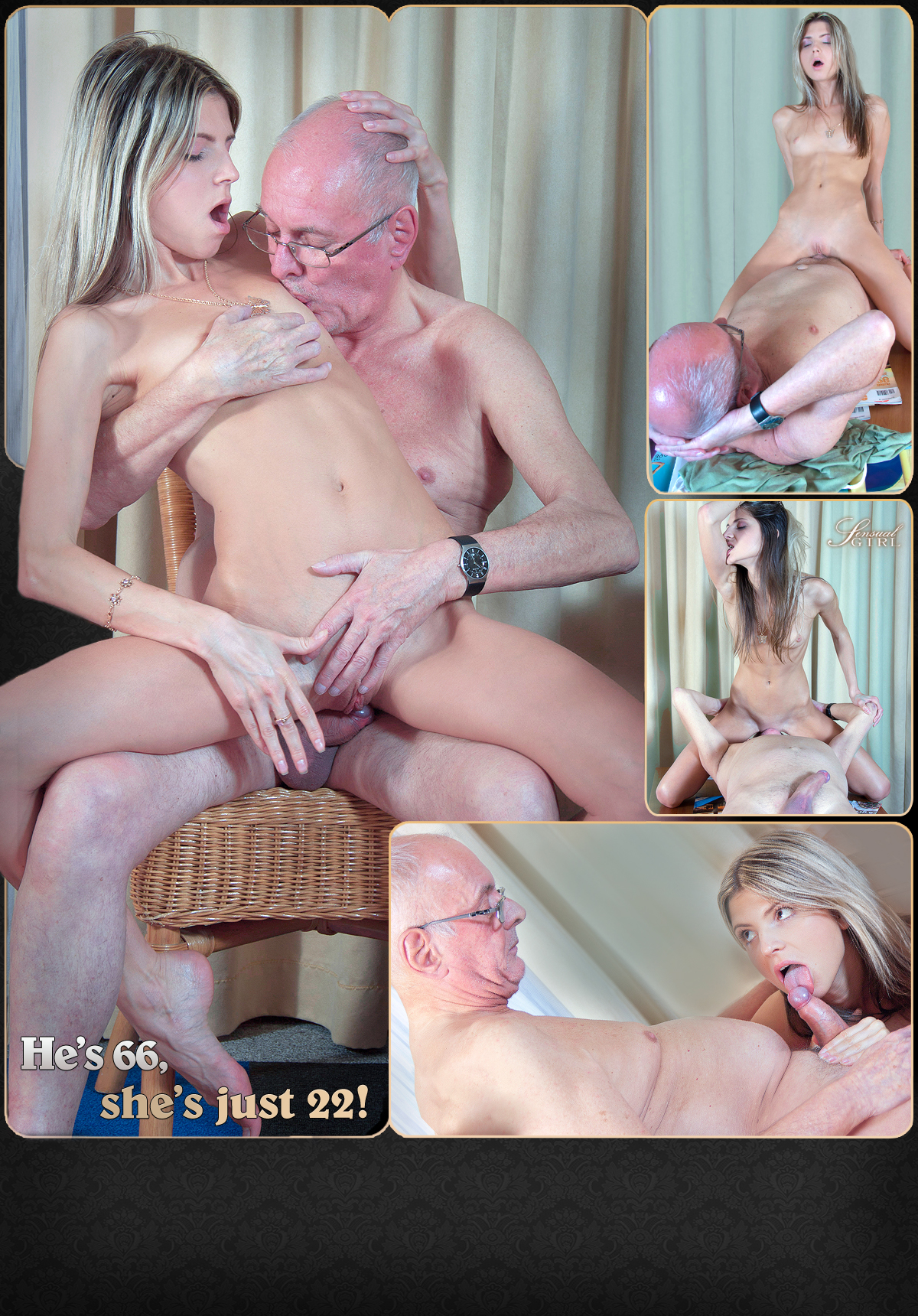 Gina Gerson hornny pussy fucks an old man