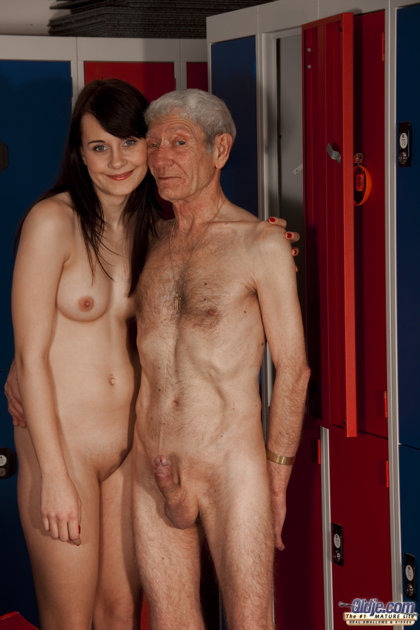 Grandpa fucks a skinny slut with tiny tits 8