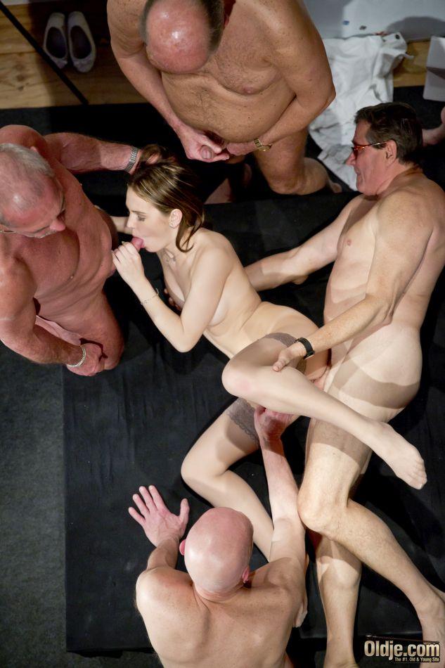 5 old men gang bang nasty young blonde nurse - 1 3