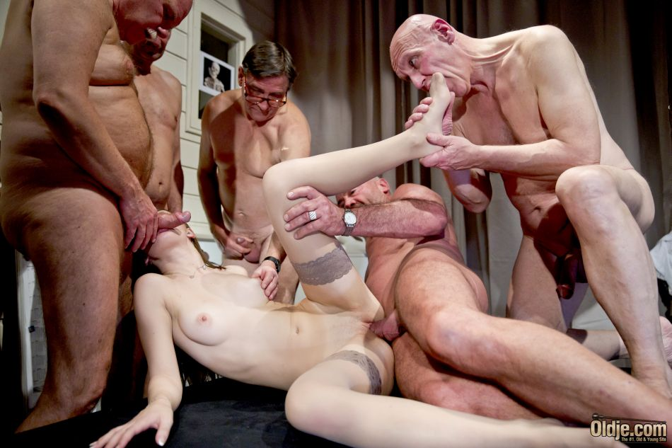 Man movie older sex her hands